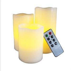 LED Flameless Candles 🕯 set of 3 NIB NEW
